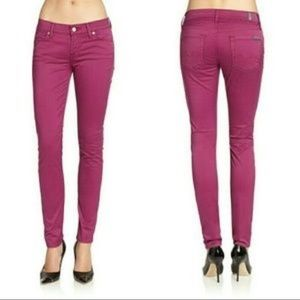 7 For All Mankind Jeans Gwenevere Purple Skinny 27